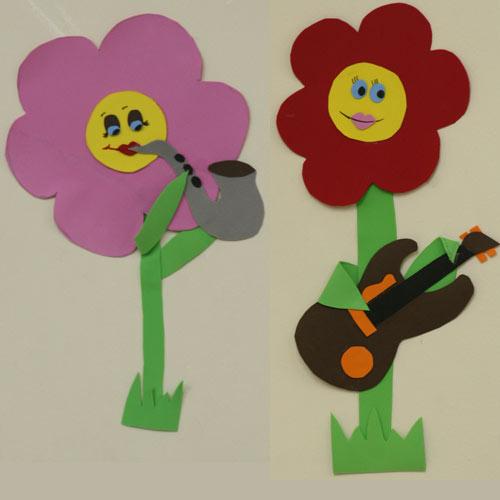 flores no jardim letra:Fiz uma banda de jardim para a Gabi em EVA. Era para ter as letras das