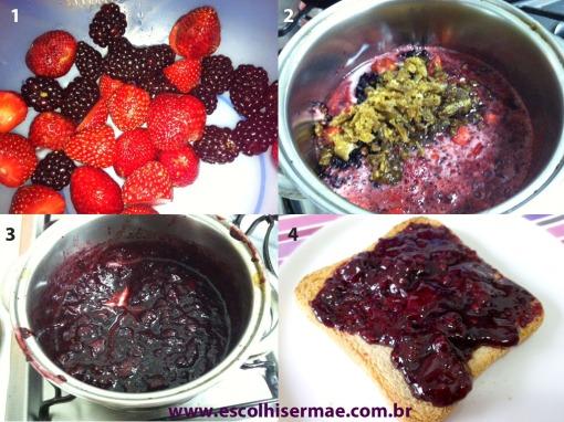 geleia de frutas vermelhas